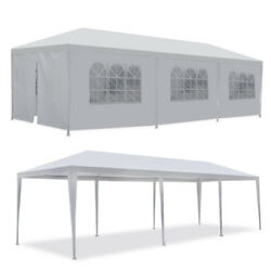 10and039x30and039 White Outdoor Gazebo Canopy Wedding Party Tent 8 Removable Walls 8