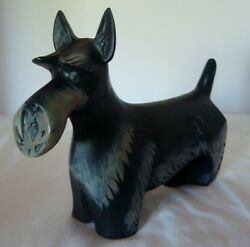 Vintage Scottie Dog Terrier Figurine 7 12'' Long-c12