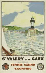St Valery En Caux Yachting 1936 France Vintage Travel Advertising Poster