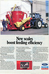 1989 Ford Tw-5 And New Holland 358 Feed Grinder Mixer Farm Tractor Print Ad