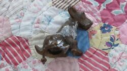 Antique Early Century Art Deco Cast Metal Nickel Scottie Dog Terrier Scottish
