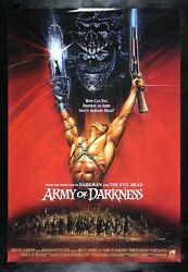 Army Of Darkness ✯ Cinemasterpieces 1992 Rare Intl Zombie Evil Dead Movie Poster