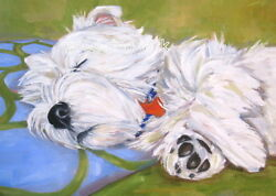 West Highland Terrier ACEO WESTIE PRINT