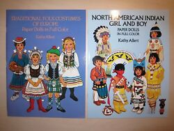 Traditional Folk Costumes Of Europe And N American Indian Paper Dolls By K. Allert