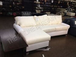 Pottery Barn Pb Basic Loveseat Chaise Right Sofa Couch Sectional No Slipcover