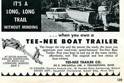 1960 Tee Nee Boat Trailer Print Ad Youngstown Ohio