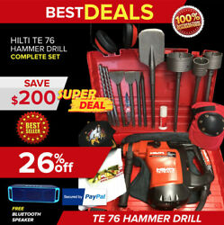 Hilti Te 76 Atc Hammer Drill, Preowned, Free Speaker, Chisels, Extras, Fast Ship
