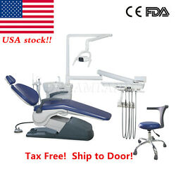 FDA Approved Dental Unit Chair TJ2688 A1 110V 4Holes Electric Valve Controlled