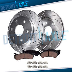 Front Drilled Brake Rotors And Ceramic Pads Chevy Silverado 1500 Gmc Sierra 1500