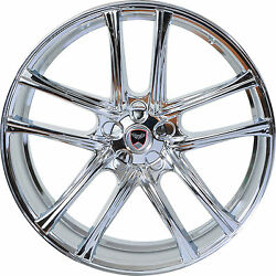 4 GWG Wheels 18 inch Chrome ZERO Rims fits CHEVY IMPALA 2000 - 2013