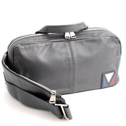 Authentic Louis Vuitton Calf V Fast Men's Bodybag Crossbody Bag M50445 Gray