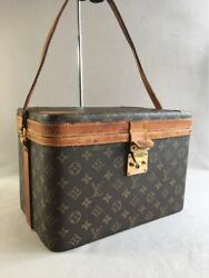 AUTH PRE-OWNED LOUIS VUITTON LV VINTAGE MONOGRAM TRAIN CASE  M23820