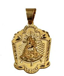 Caridad Del Cobre 14k Yellow Gold Pendant - Our Lady Of Charity 14k Yellow Gold