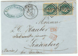 France Cover 1869 Colmar To Lindenberg Ge - Pair On Cover - Cover548