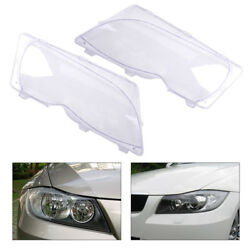 2x Left And Right Headlight Lens Clear Cover Fit For Bmw E46 3 Series 325xi 330i