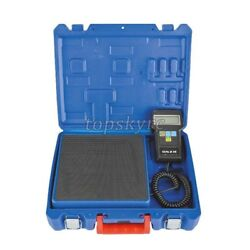 220lb Digital HVAC Refrigerant Charging Weighing Weight Electronic Scale w Case