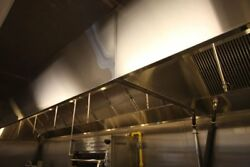 10' Wall Canopy Hood, Fan, Direct Fired Heated Makeup Air Unit System