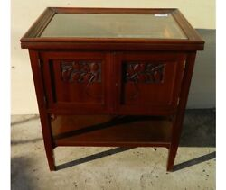 Small Display Cabinet With Glass Top E Internal Drawers Liberty