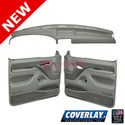 Med Gray Interior Accs. Kit 12-115c94f-mgr For F-350 Front Left Right -coverlay