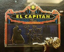 El Capitan Theatre Marquee Dsf Disney Beauty And Beast Grand Pin Trading Event
