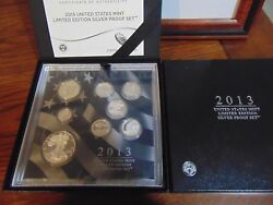 Reduced 2013 Us Mint Limited Edition Silver Proof Set