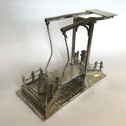 Fine Antique Solid Silver Working Drawbridge Childand039s Toy Dutch 1903 Jan Verhoogt