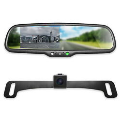 Master Tailgaters Rear View Mirror With 4.3andrdquo Lcd Screen And 170anddeg Backup Camera