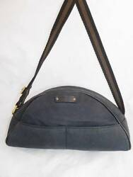 GUCCI USEDWORN OUT SMALL BLACK CANVAS HOBOSHOULDEREVENING BAG 213317 ITALY
