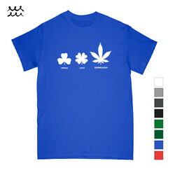 LUCKY LEAF WEED DESIGNED T SHIRT GRAPHIC SHIRTS CANNABIS PRINTED TEE FUNNY GIFT