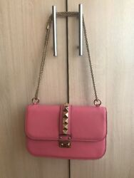 Valentino Garavani Medium Rockstud women Flap Bag Pink Handbag