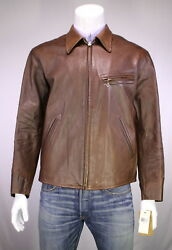 NWT New * RRL * Double RL Ralph Lauren 'Morrow' Leather Jacket~ XL