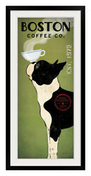 Boston Terrier Coffee Co Black Frame