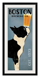 Boston Terrier Brewing Co Panel Black Frame