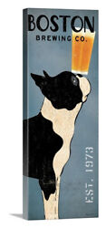 Boston Terrier Brewing Co Panel Stretched Canvas