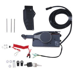 Boat Outboard Remote Control Box for Yamaha Right Hand Push Throttle 10Pin Cable