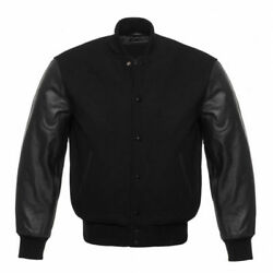 Varsity Bomber Letterman High Quality Wool And Real Cowhide Leather Sleeves Jacket