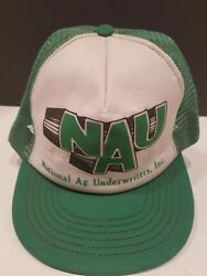 1980s National Agriculture Snapback Hat Cap Made In Usa Trucker Mesh Vintage