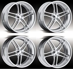 17 Inch Polished Sport Prowheel Boost Forged Staggered 2piece Billet Alloy Rims