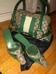 Gucci bag and matching shoes $850.00
