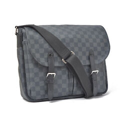 LOUIS VUITTON Damier Graphite Christopher Messenger Men's Crossbody Bag N41500