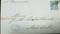 A 1879 Puerto Rico, Mayaguez Cancel To The Usa, New York Paid All On Reverse Ca