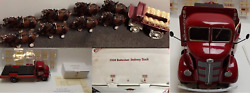 Budweiser Clydesdale 8 Horses Wagon Metlox + 1938 Danbury Mint Delivery Truck