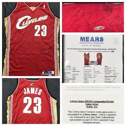 Lebron James Signed Autographed 2003 Game Worn Rookie Jersey Mears UDA COA + LOA