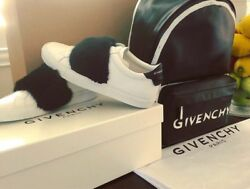 Givenchy Logo Backpack And Givenchy Fur Shoes Size 38 Women's