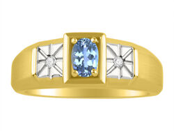 Diamond And Blue Topaz Ring 14k Yellow Or 14k White Gold Mr2866bty-c