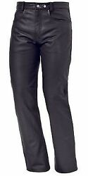New Mens Leather Motorcycle Jeans Pants Great Comfort And Fit 5 Pocket Design