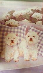 West Highland White Terrier (Westie) house banner flag and garden flag