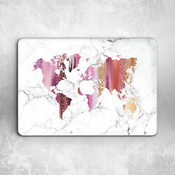 Pink World Map Marble Hard Cover Case For Macbook Pro Retina Air 11 12 13 15