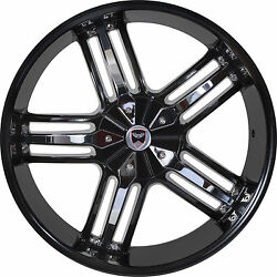 4 GWG Wheels 20 inch Black Chrome SPADE Rims fits CHEVY IMPALA 2000 - 2013