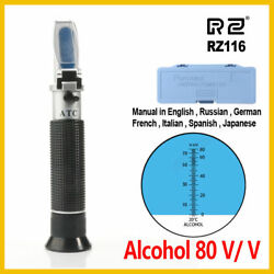 Rz Refractometer Alcohol Machinistand039s Cnc Coolant 0-80 Easy Reading Top Quality